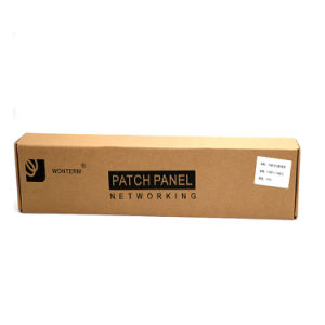 24-Port Cat 6 Unshielded Patch Panel Cat5e Fluke Test pictures & photos