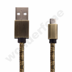 UV Leather Cable for Mobile Phone pictures & photos