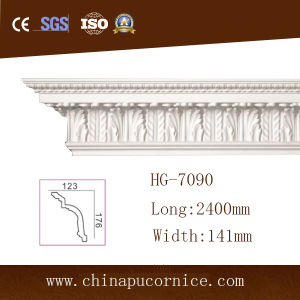 Large Breadth High Density PU Crown Moulding for High Interior House pictures & photos
