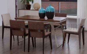 Europe Design Furniture Dining Table with Steel Leg (NK-DTB083) pictures & photos
