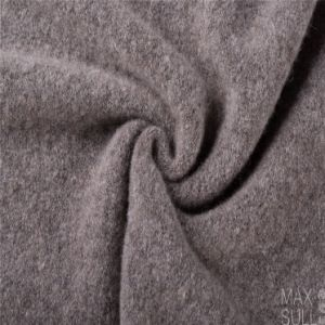 Yark Hair and Wool Fabric with Knitted for Winter in Gray pictures & photos