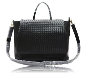 PU Woven Bulky Handbag with Long Optional Strap Designs of Bags for Womens Collections. pictures & photos