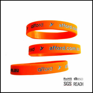 Blank Custom Silicone Wristbands Personalized Rubber Bracelets pictures & photos