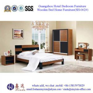 Indian Queen Size Bed Simple Home Bedroom Furniture (SH-013#) pictures & photos