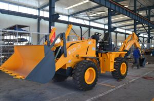 High Quality Jcb Backhoe Loader, Wz30-25 Backhoe with 4 in 1 Bucket, Breaker pictures & photos