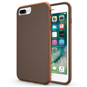 Shockproof TPU Leather Back Cover PC Bumper Hybrid Phone Case for iPhone 7 6 6s Plus S8 S8 Plus pictures & photos