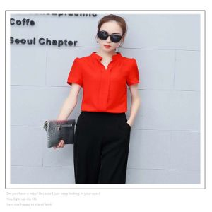 Summer Short-Sleeved Chiffon / Trousers Two Pieces for Women pictures & photos