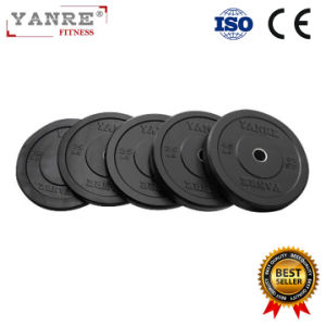 Gym Fitness Equipment Crossfit Black Rubber Weight Lifting Bumper Plates pictures & photos