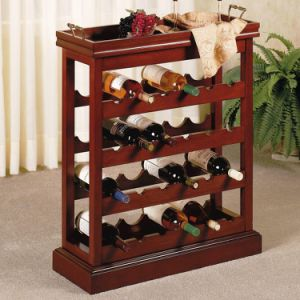 6-Tier Wooden Walnut Wine Rack with 48 Bottles pictures & photos