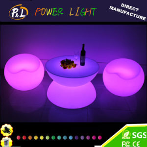 Rechargeable Plastic Furniture Illuminated LED Coffee Table pictures & photos