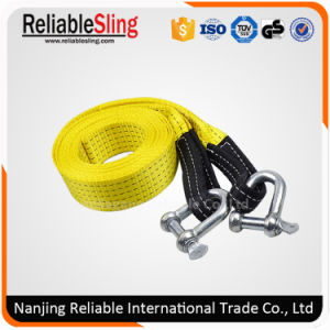 Polyester Yellow ATV Tow Strap with Shackles pictures & photos
