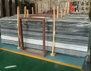 New Popular Color Grey-Blue Marble Slab Blue Wooden Vein for Construction