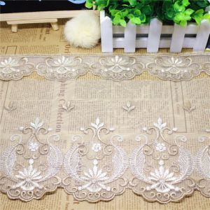 New Stock Wholesale 19cm Width Embroidery Nylon Net Lace Polyester Embroidery Trimming Fancy Mesh Lace for Garments Accessory & Home Textiles & Curtain (BS1113) pictures & photos
