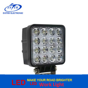 9V - 36V 4800lm 48W Square Work Light for Car Truck Jeep Spot, Flood Beam LED Work Light pictures & photos