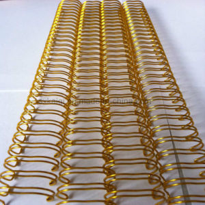 Nylon Coated Double Loop Wire (gold color) pictures & photos
