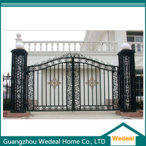 Factory Supply Luxury Exquisite Wrought Iron Double Door for Villa pictures & photos