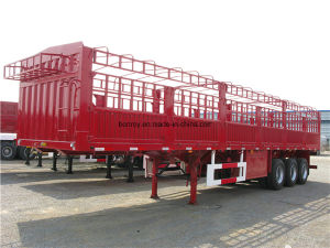 Evergrand 2-3axle 28t-40t Cargo Stake Semi-Trailer pictures & photos