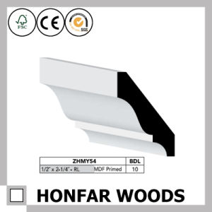 "1/2""X2-1/4"" Canada Hotel Construction MDF Primed Cornice Crown Moulding pictures & photos"