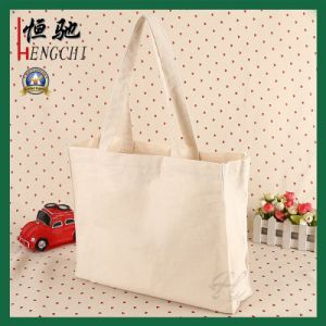 Foldable Cotton Shopping Tote Canvas Bag with Full Color Printing Pocket pictures & photos