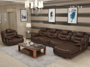 Modern Living Room Sofa with L Shape Sectional for Chinese Furniture pictures & photos