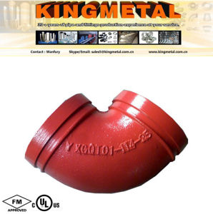Ductile Iron Grooved Pipe Fitting of 90 Degree Caasting Elbows pictures & photos