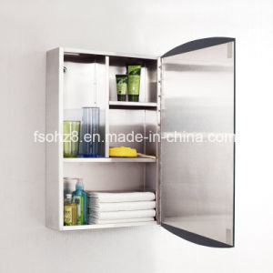 Elegant Curved Design Stainless Steel Bathroom Mirrorcabinet (7026) pictures & photos