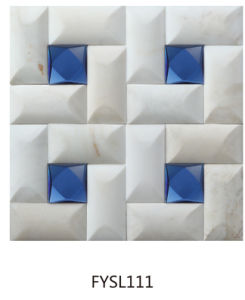 Building Material Crystal Mixed Marble Mosaic for Wall Tile (FYSL111) pictures & photos