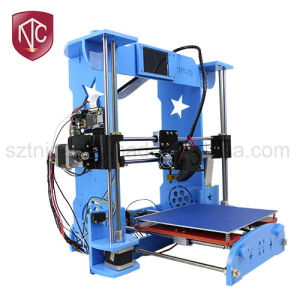 DIY Desktop 3D Printer From Factory (OMY-03) Machine There Are Three Color Options: Green, Blue, and Frosted Red pictures & photos