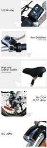 20 Inch Aluminum Alloy Folding E-Bike with Hidden Battery Cmsdm-20W pictures & photos