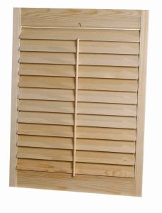 Solid Kitchen Cabinet Louver Door (cabinet louver door) pictures & photos