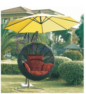 Modern Outdoor Leisure Furniture Aluminum Rattan Hanging Chair pictures & photos