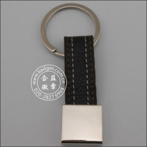 Leather Key Ring, Custom Metal Keychain (GZHY-KA-069) pictures & photos