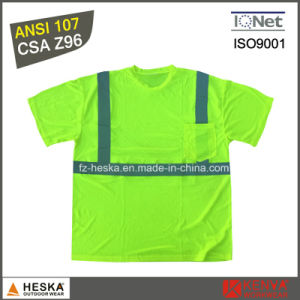 Mens Hi-Vis Round Neck Short Sleeve Reflective T Shirt pictures & photos