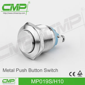 19mm Metal Push Button Switch with Flat Head pictures & photos