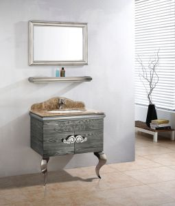 Antique Style Stainless Steel Bathroom Cabinet Vanity pictures & photos