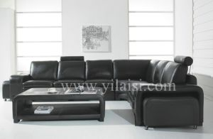 Corner Leather Sofa (T28)