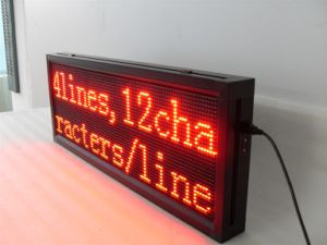 P10 Red Color Semi-Outdoor Scrolling LED Message Sign pictures & photos