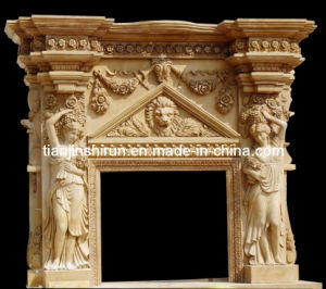 Marble Sculpture Carving Fireplace (XF-107) pictures & photos