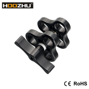 "Flashlight Mount Holder Hoozhu Bh02 1"" Ball Clamp 3 Hole Underwater Camera Arm System Rig Tray Diving Fit for pictures & photos"