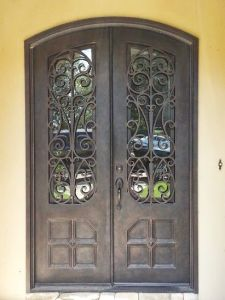Simple and Modern Style Wholesale Iron Glass of Interior Wrought Iron Door pictures & photos