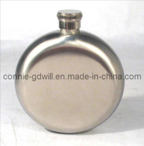 5oz Stainless Steel Round Hip Flask (635H/S)