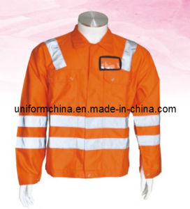 Safety Work Jacket for Industry, Workwear with Reflective Tape (EM208)