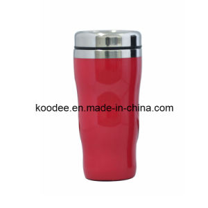 Curvy Shape Stainless Steel Inner Car Mug (KD-805)