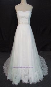 Sleeves Bridal Ball Gowns Real Photos Silver Wedding Gown 2017 pictures & photos