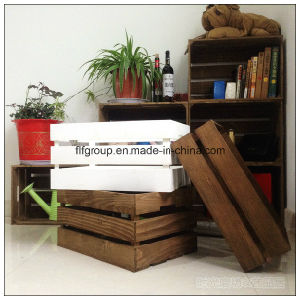 Living Room Customized Eco-Friendly Fashion Pine Wood Storage Box pictures & photos
