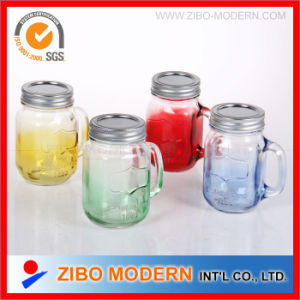 Glass Drinking Mason Jar with Metal Lid pictures & photos