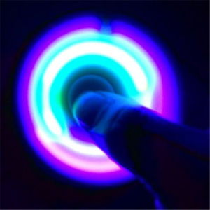 Eagle Eyes LED Flashing Plastic Fidget Finger Hand Tri-Spinners pictures & photos