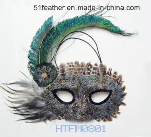 Personal Decoration Turkey/Ostrich Feather Mask pictures & photos