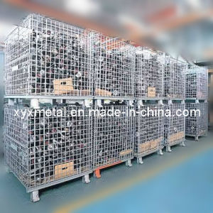 Zinc-Plated Flat Pack Portable Wire Cage Mesh Storage Container pictures & photos