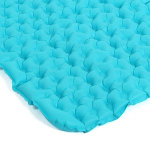 Inflatable Fabric Camping Mattress with Built-in Pillow pictures & photos